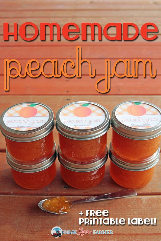 Peach Jam. Preserve fresh peaches from summer all year round with this delicious sweet peach jam. Free mason jar label printables available.