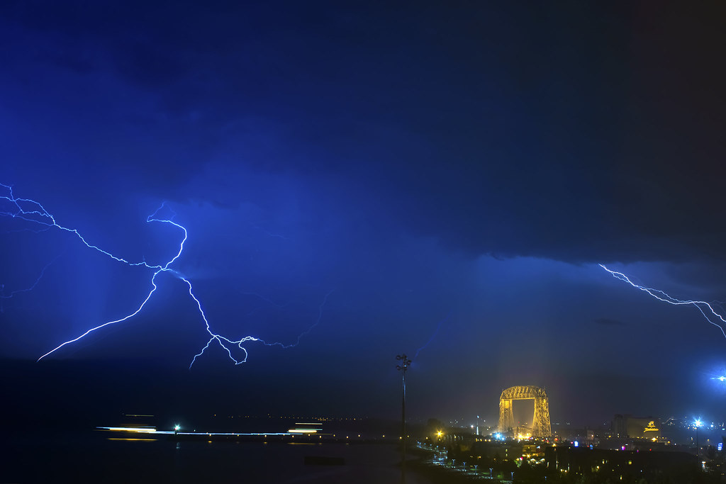Lightning Over Duluth