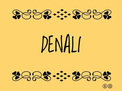 Buzzword Bingo: Denali