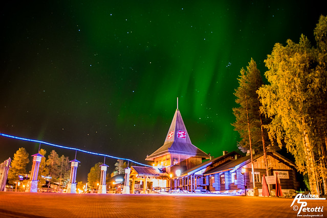 Santa Claus Village Aurora Boreale