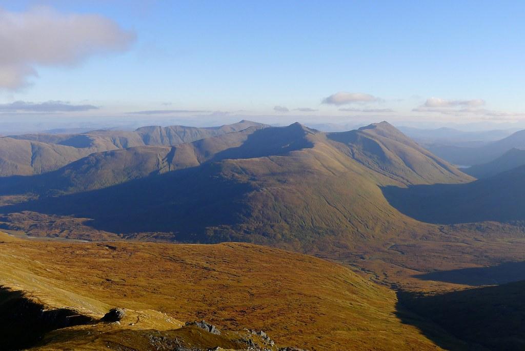 Cluanie Hills from Sgùrr nan Ceathreamhnan