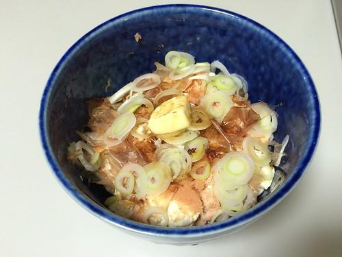 豆腐明太子バター丼