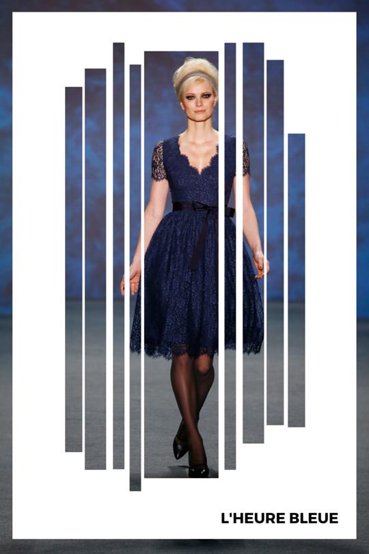 Mad Woman Blues. Vintage Inspired Designs by Austrian Designer Lena Hoschek. Credit: Mercedes-Benz Fashion. Found on www.StyleByCharlotte.com #Blue #Vintage