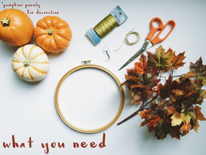 easy minimalist fall wreath materials