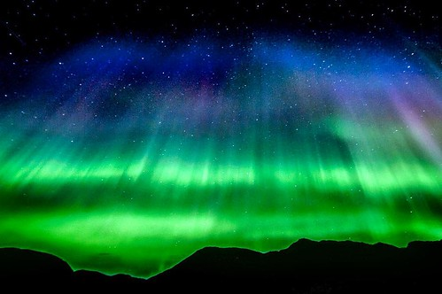 The northern lights over Torngat Mountains National Park, Labrador. by everythingeverywhere