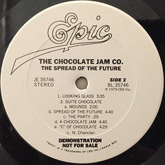 THE CHOCOLATE JAM CO.:THE SPREAD OF THE FUTURE(LABEL SIDE-B)