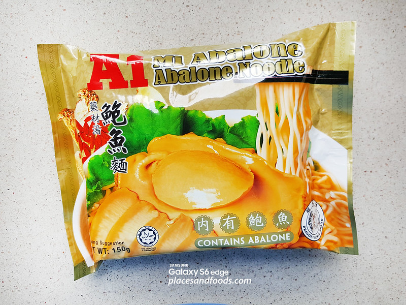 A1 Abalone Instant Noodle packet