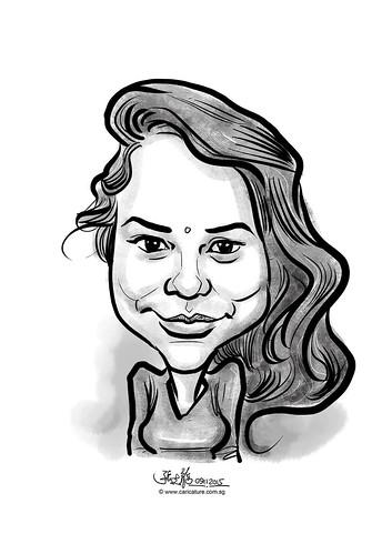 digital caricature for eBay - Poonam Raut