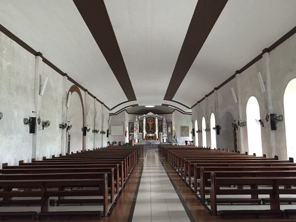 Inside the Church at Daraga Church