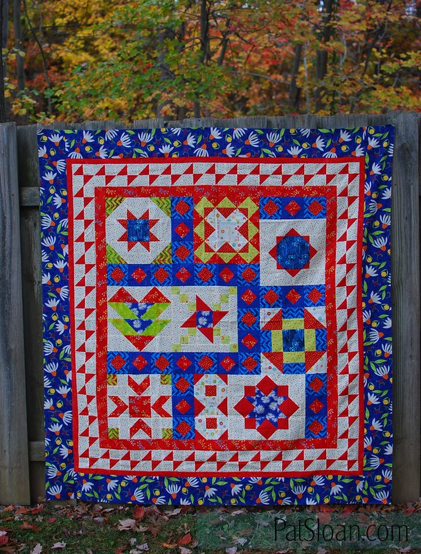 pat sloan vacation time final quilt navy