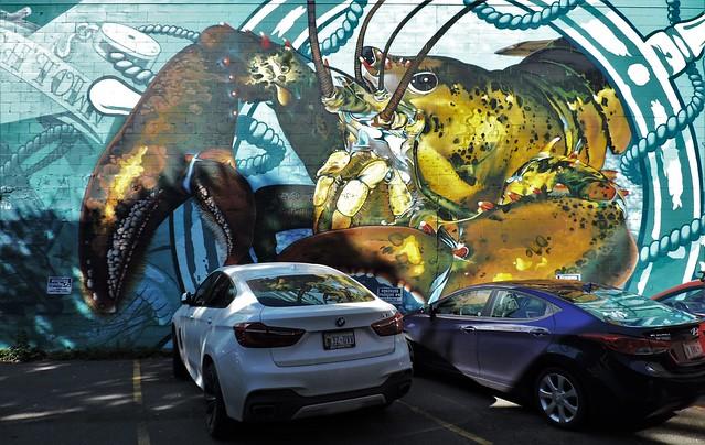 Lobster mural