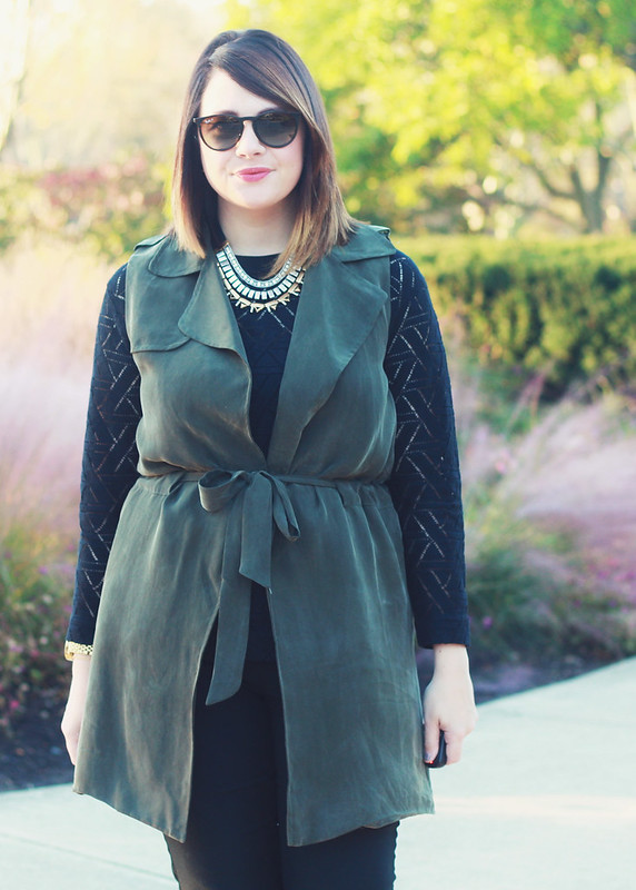 Anthropologie Army Green Vest 6