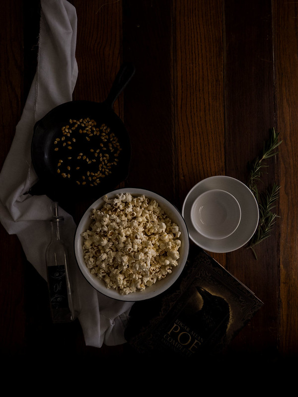 Rosemary Infused Butter Popcorn