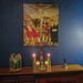 Altar for our Vespers Fellowship Dinner space by Kayakman