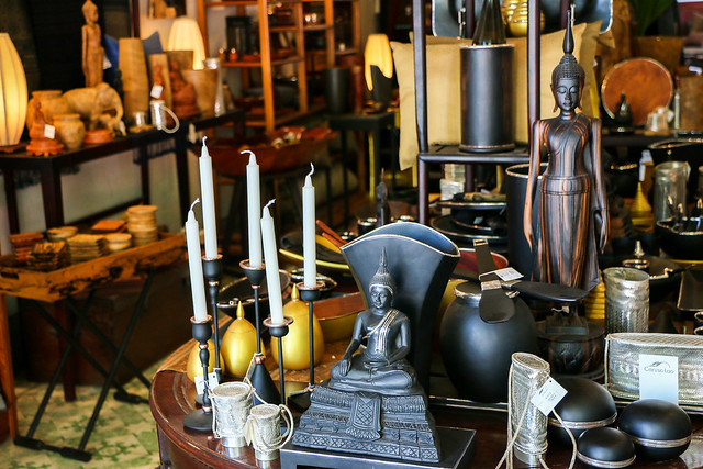 A stylish interior shop in Luang Prabang, laos ルアンパバーン、オシャレなインテリアショップ