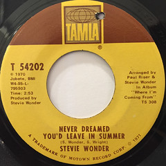STEVIE WONDER:WE CAN WORK IT OUT(LABEL SIDE-B)
