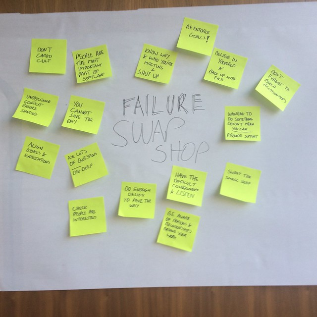 Shared learning from Failure Swapshop