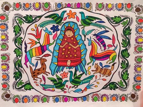 Coloring la Virgencita