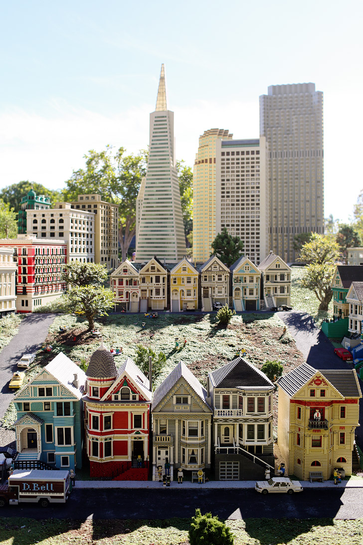 Lego Painted Ladies San Francisco - If you love travel, you will love this around the world tour at Legoland California.