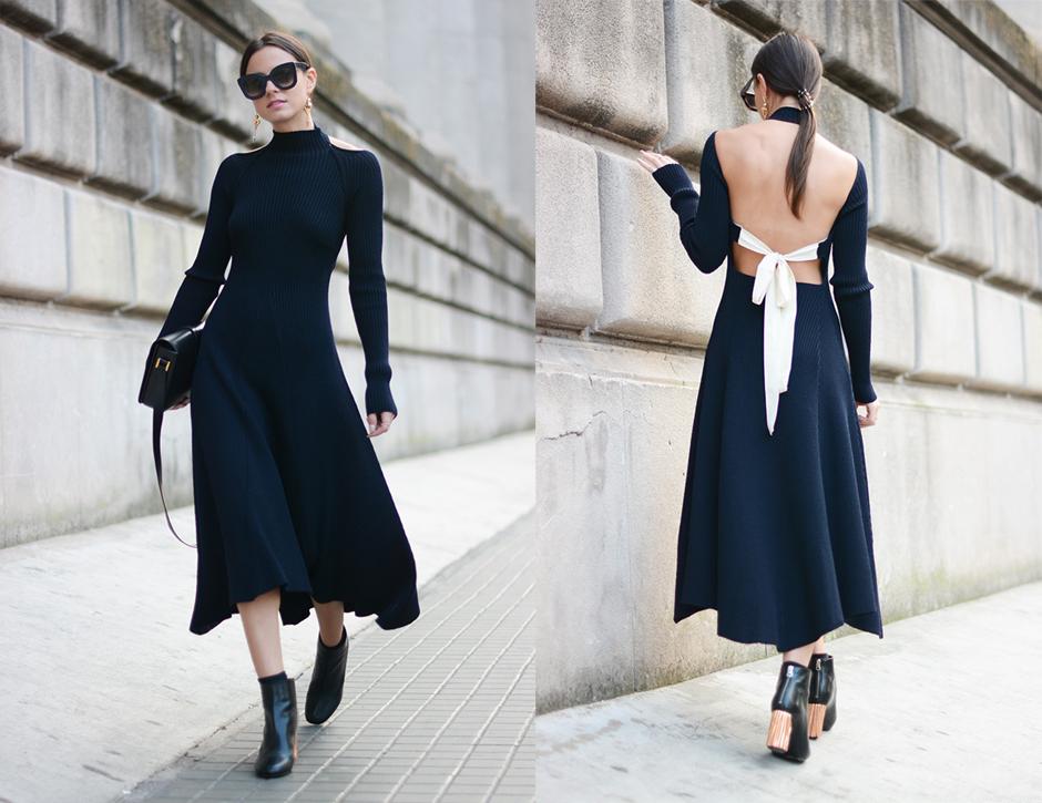 celine-knit-dress-outfit-street-style