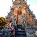 Bali 2015, Pura Puseh Temple Batuan, jody admires a temple tower WM