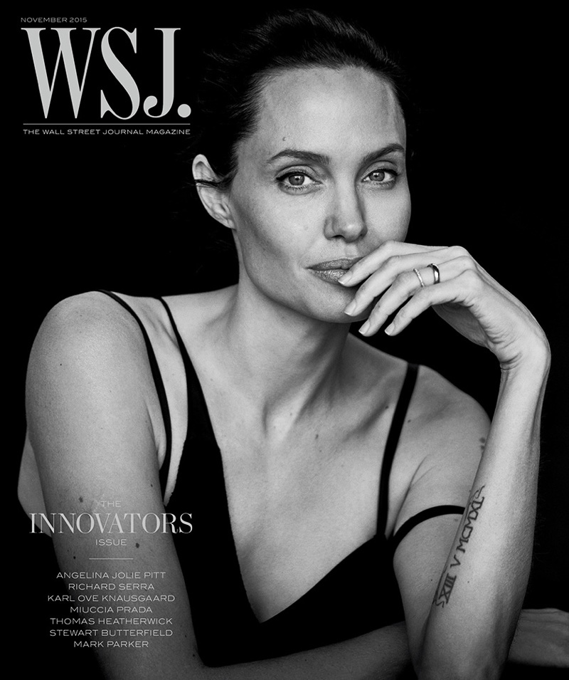 Angelina Jolie WSJ Cover Portrait Photo