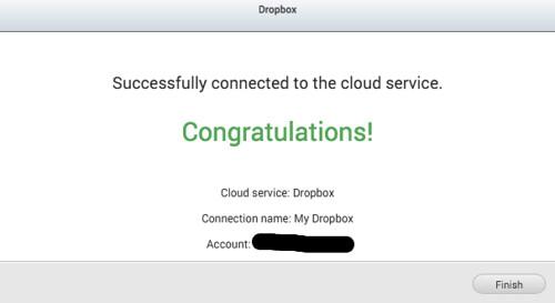 เพิ่ม Dropbox เข้า Remote Connection เรียบร้อย
