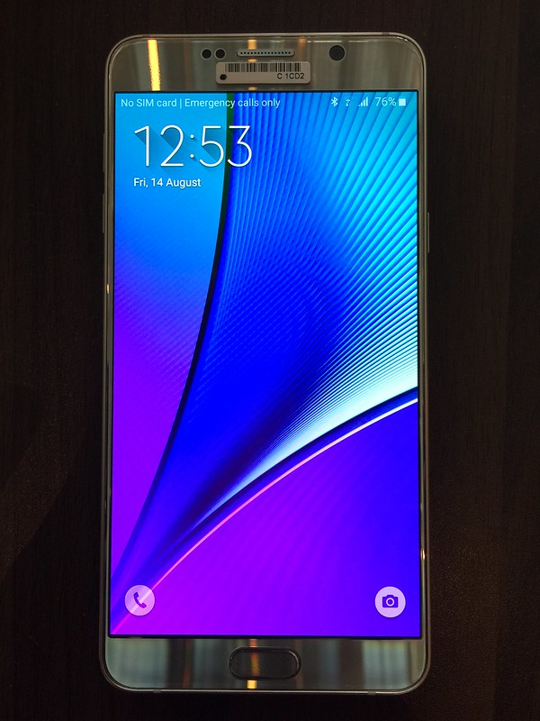 Samsung Galaxy Note 5 - Front