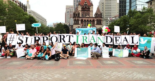 Iran/US nuclear agreement support rally-Boston, Mass. Aug. 15, 2015