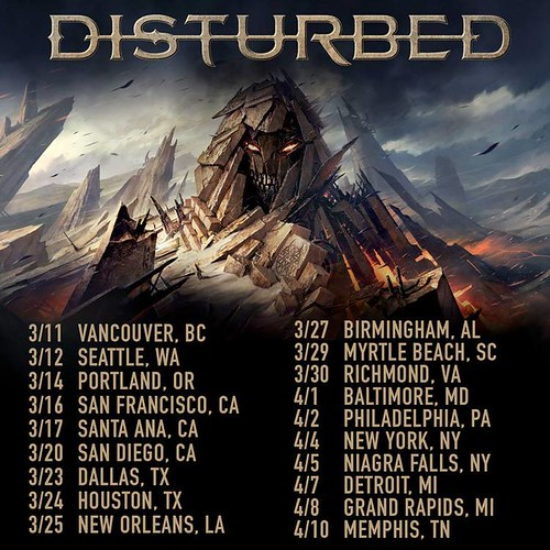 Disturbed at the Baltimore Soundstage
