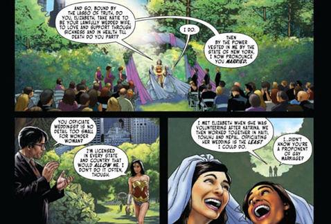La Mujer Maravilla oficia boda gay en historieta