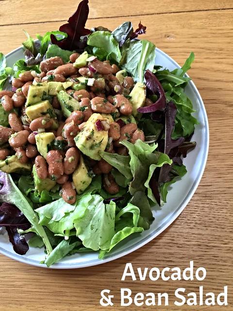 Avocado & borlotti bean salad