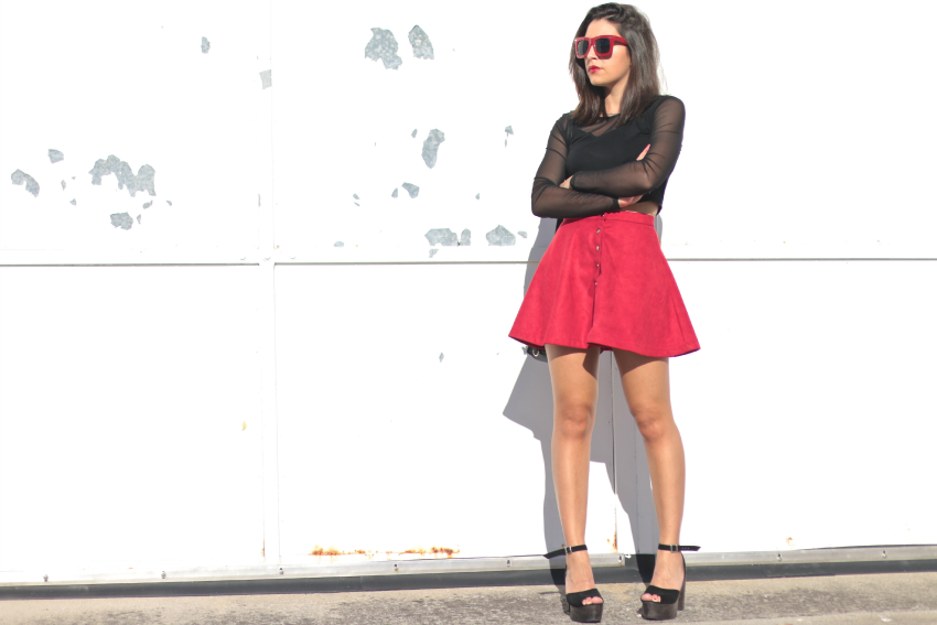 falda-botones-frambuesa
