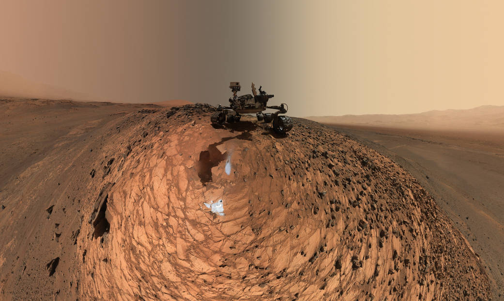 Curiosity Low-Angle Self-Portrait at 'Buckskin' Drilling Site on Mount Sharp