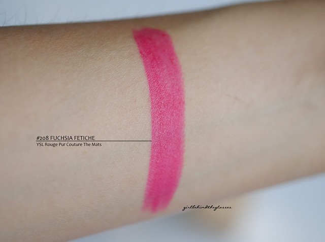 YSL Rouge Pur Couture The Mats Fuschia Fetiche swatch