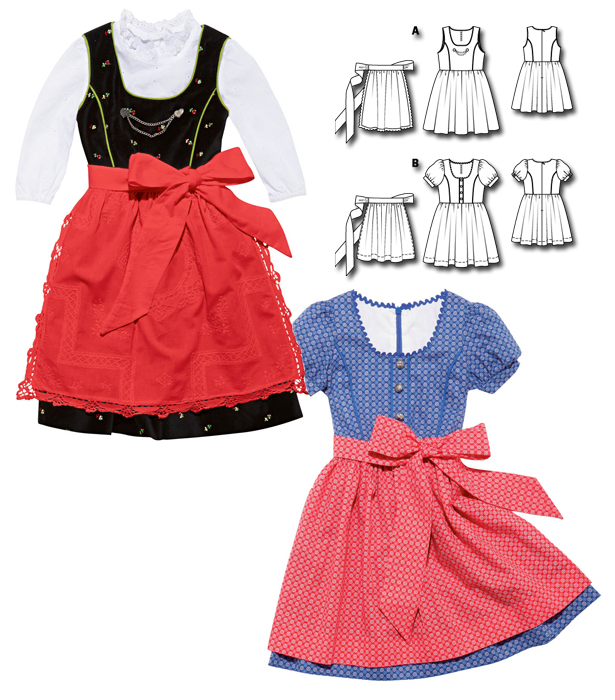 Kid's Trachten Outfits: 6 New Patterns – Sewing Blog ...