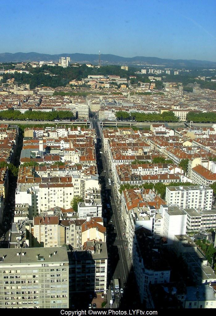 Lyon Vue depuis la tour Incity