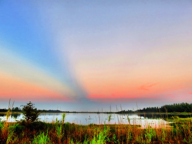 False sunrise over Everglades HDR 20151009