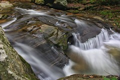 One of the several unnamed waterfalls of decent size along Cove Creek downstream from Big Bradley Falls