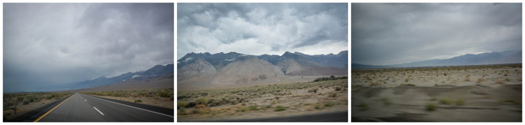 driving toward death valley