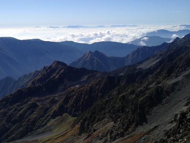 槍ヶ岳 雲海 富士山~南アルプス