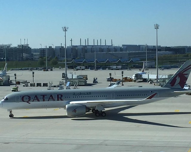 Qatar Airways The worlds newest aircraft by the worlds best airline (according to #Skytrax): #Airbus #A350XWB landed in #Munich