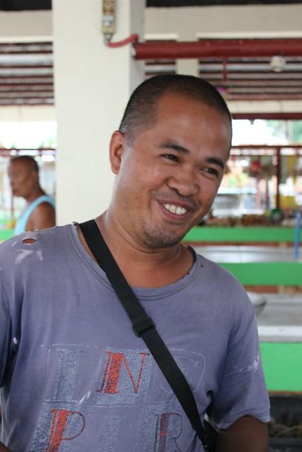 Tunga market vendor Nelson Arguilles