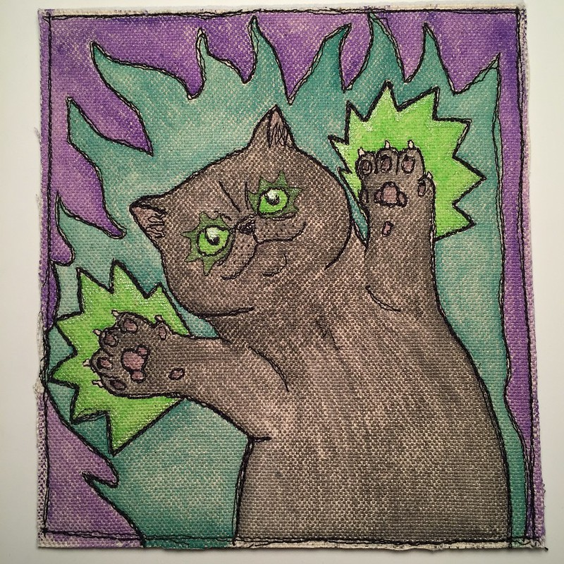 drawlloween day 28: black cat