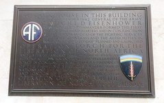 Photo of Dwight D. Eisenhower bronze plaque