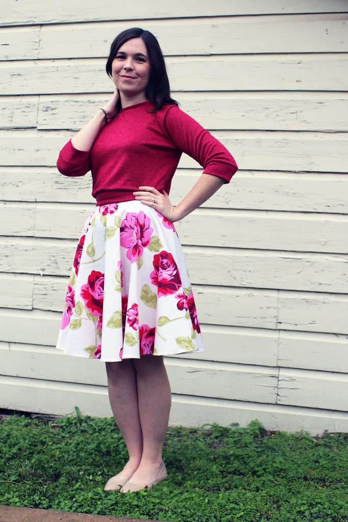Self Drafted Circle Skirt and Raglan Sweatshirt