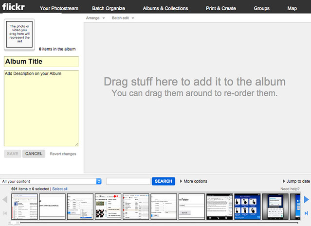 How to organize photos on flickr3