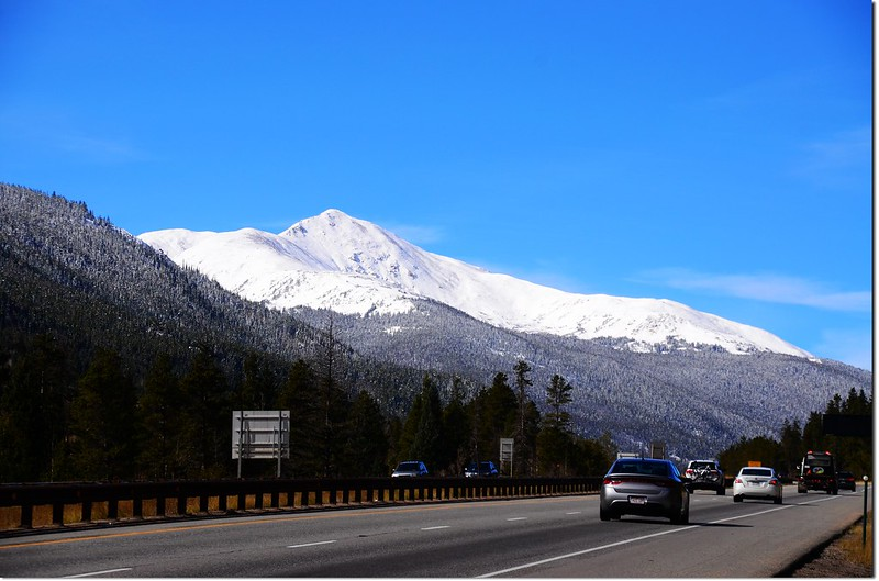 Mount Sniktau from I-70 HWY