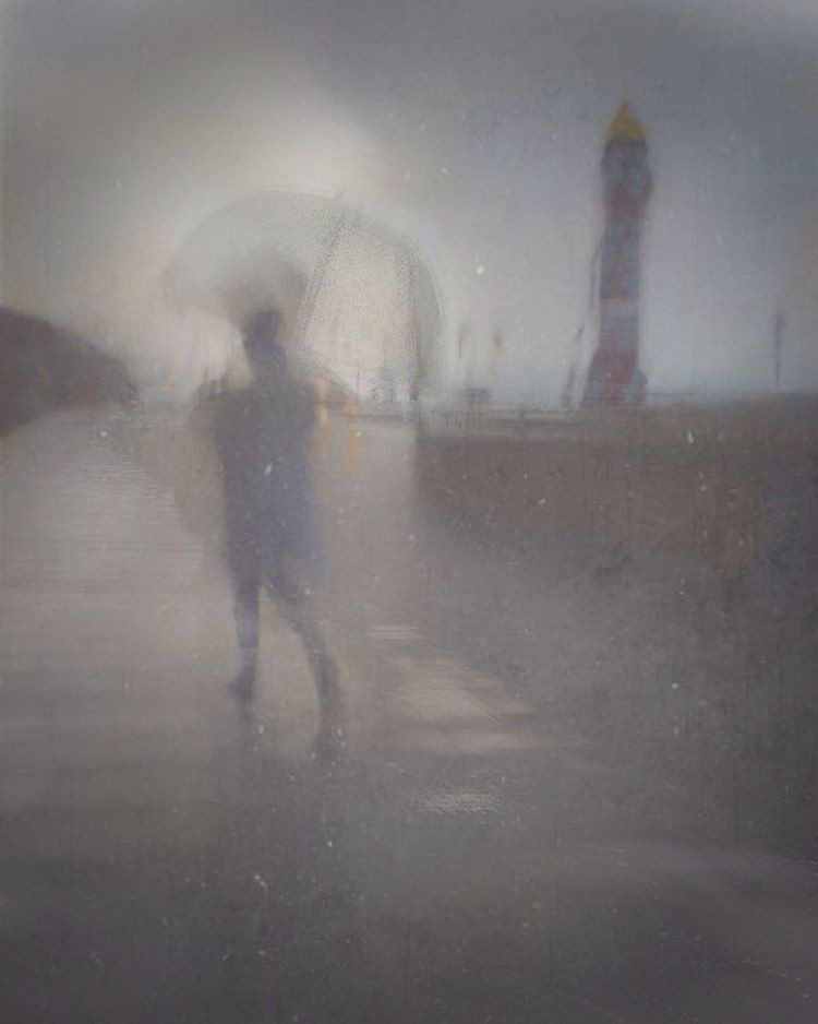 October morning, Weymouth seafront  #shotoniphone6 #seafront #jubileeclock #englishweather #painterly #painterlyphotos #artofblur #umbrella #rainyday #wetdays #texturelicious