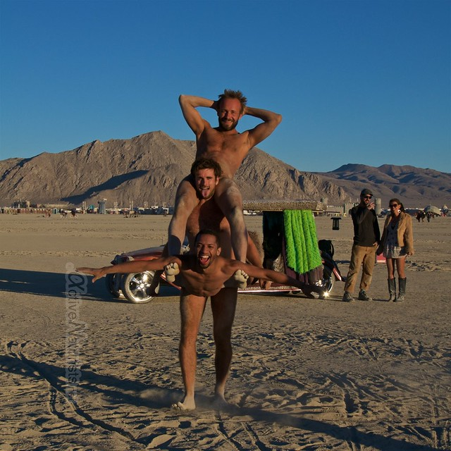 naturist acro-yoga gymnasium 0017 Burning Man 2015, Black Rock City, Nevada, USA